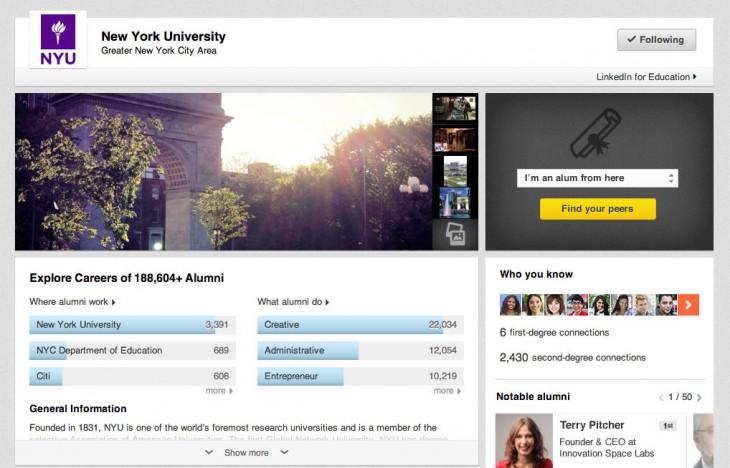 Agora, estudantes podem conferir perfis de universidades no LinkedIn