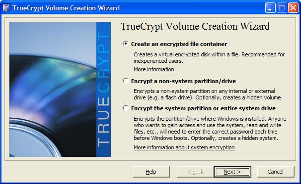 Montando um volume encriptado