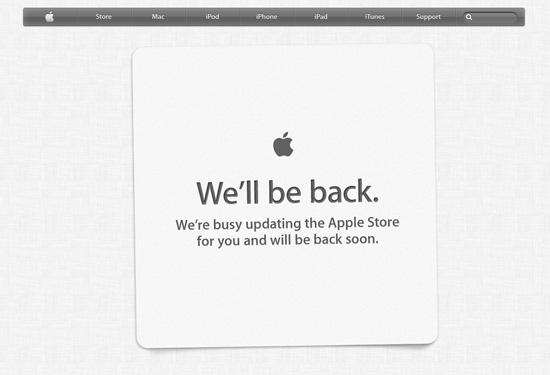 Apple fora do ar