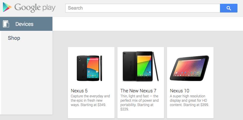 Novo Nexus apareceu na Google Play nessa manhã