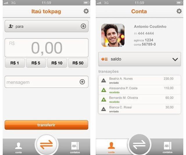 App funciona como um WhatsApp para transferências