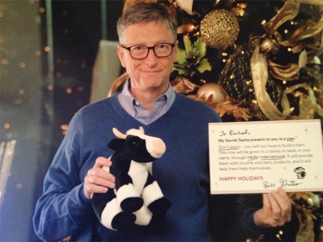 Bill Gates tirou foto para provar que enviou os presentes