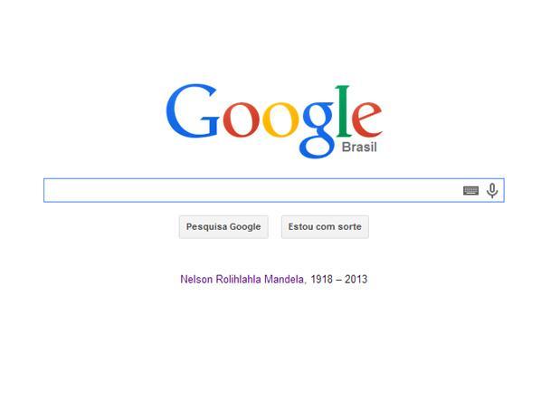 Google traz link para Arquivo digital de Mandela