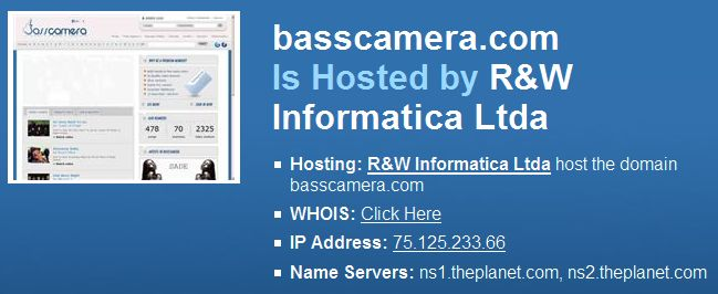 Who is Hosting basscamera.com?