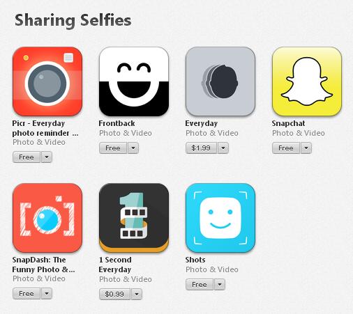 Seção de selfies na App Store