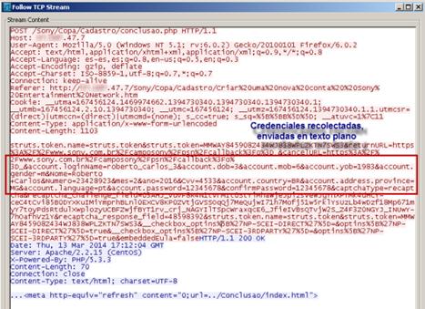 Código fonte da tela de cadastramento apresentando o phising