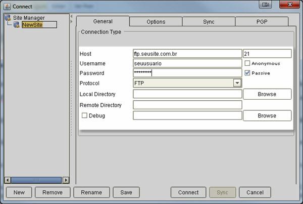 Anyclient - Cliente FTP Online
