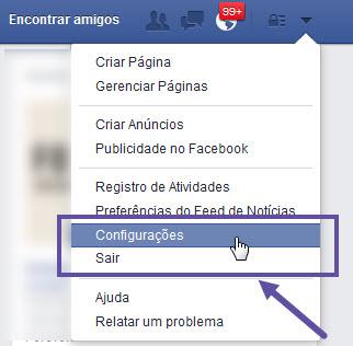 Facebook - Configurações