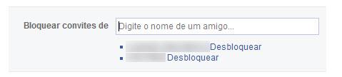Facebook - Desbloqueando amigos
