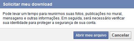 Facebook - Backup Perfil