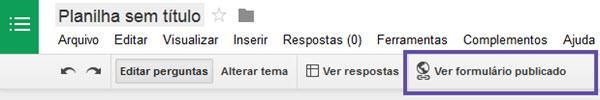Google Docs - Formulários