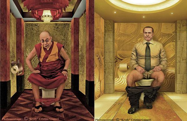 Dalai Lama e Berlusconi