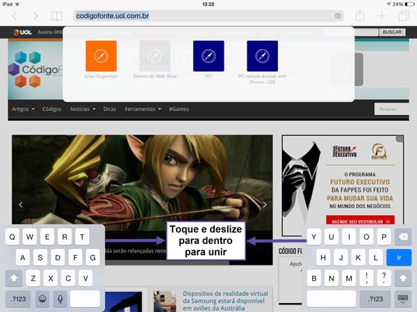 iPad - Dividir Teclado