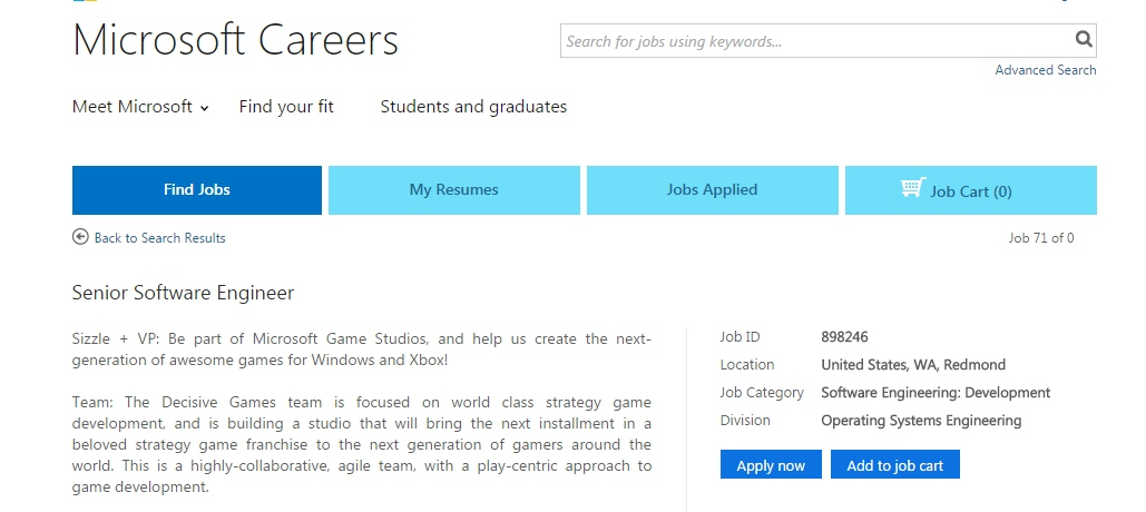 microsoft-empregos-decisive-games