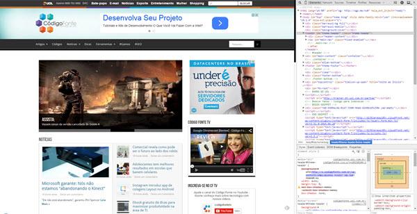 Google Chrome - Ferramentas Desenvolvedore