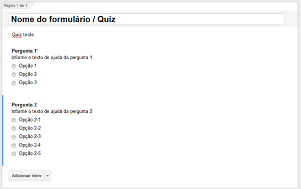 Google Forms - Quiz