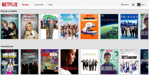Design atual da Netflix
