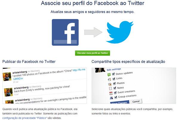 Integrar Facebook e Twitter