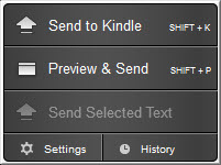 Amazon - Send To Kindle - Extensão