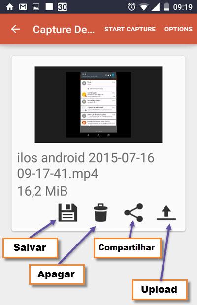 ilos Screen Recorder - Gravação tela - Android