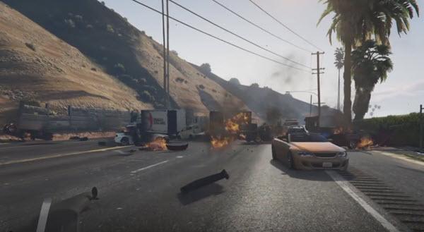 GTA V - Acidente de carros