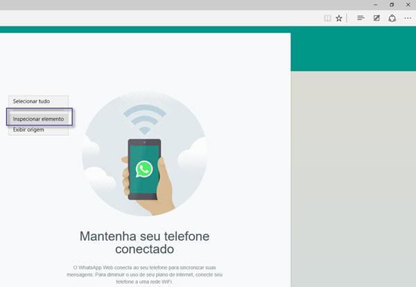 Navegador Microsoft Edge - WhatsApp Web