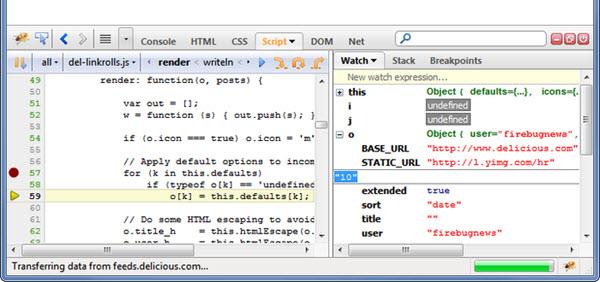 Extensão Firefox - Firebug