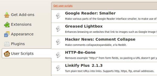 Extensão Firefox - Greasemonkey
