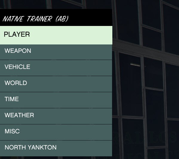 GTA V PC Native Trainer