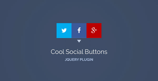 Jquery - Cool Social Buttons