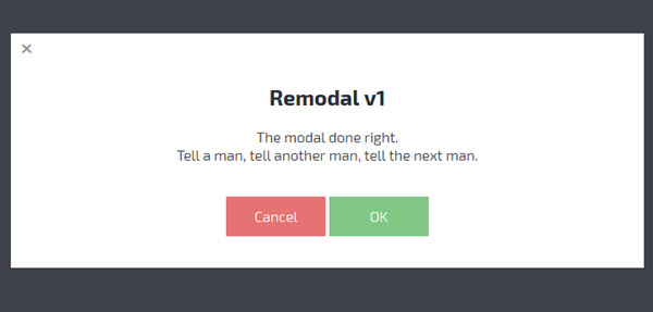 Jquery - Remodal