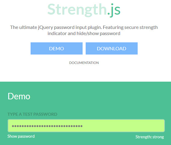 Jquery - Strength