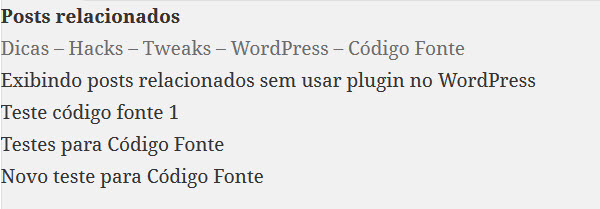 WordPress - Posts relacionados
