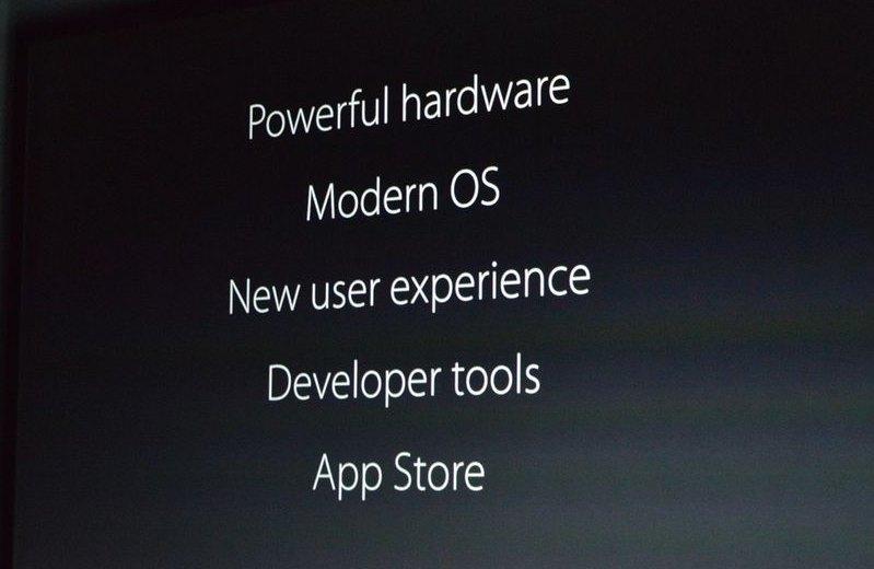 Hardware mais poderoso, sistema moderno, nova experiência de usuário, ferramentas para desenvolvedores e uma App Store