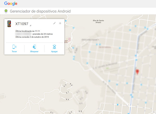 Gerenciador de dispositivos Android