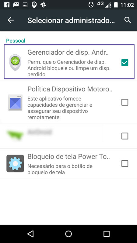 Configurações Android