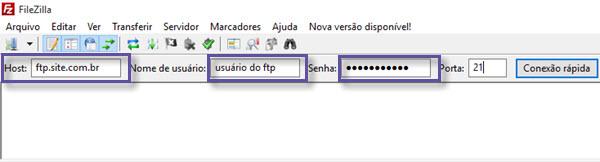 Filezilla - Acesso FTP