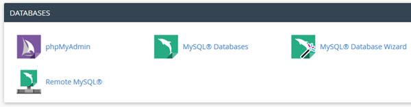 Painel de controle Cpanel - Criação de banco de dados MySQL