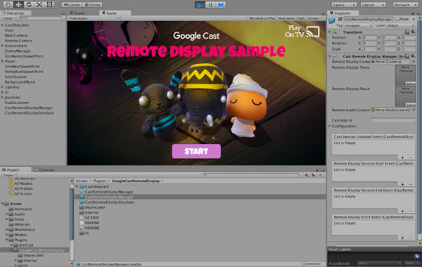 Google Cast Remote Display plugin for Unity