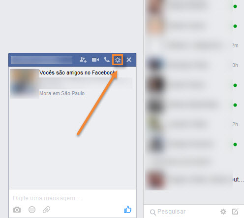 Facebook - Bloquear Mensagens
