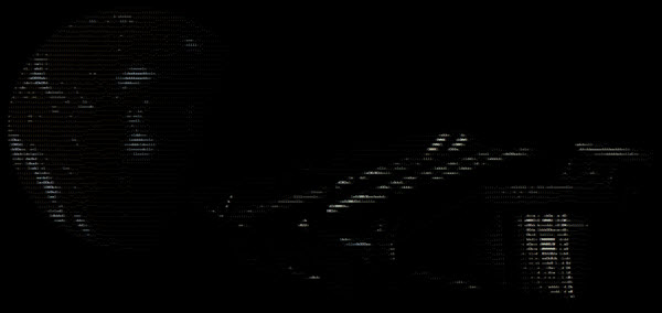 Facebook - Elite Dangerous - ASCII Art - Depois