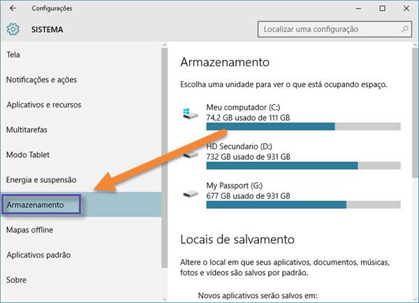 Windows 10: instalando apps em outros drives