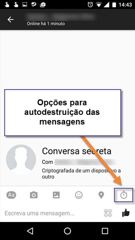 Facebook Messenger - Conversas secretas