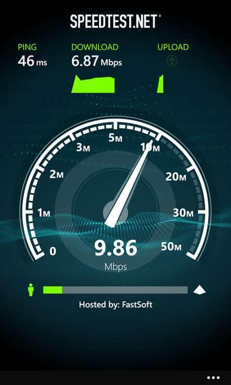 Speedtest - Windows 10