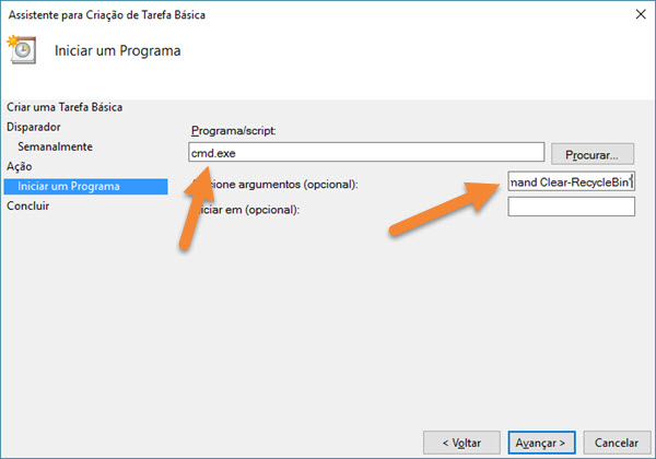 Windows - Esvaziamento automático lixeira