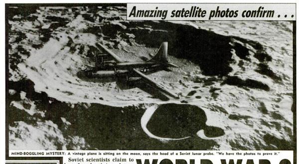 """""""Fotos Impressionantes de Satélite Confirmam... (Bombardeiro Antigo na Lua)"""""""