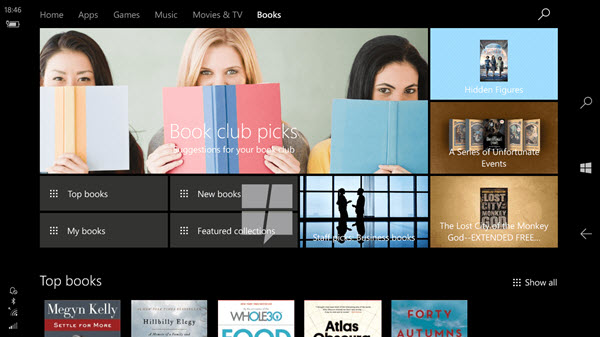 Windows 10 - Windows Store - E-books
