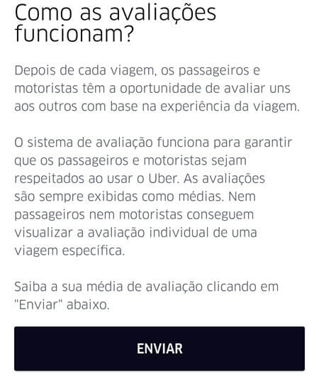 Uber - Pontuação