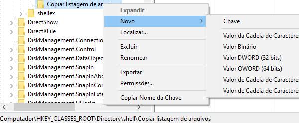 Windows - Exportar lista arquivos da pasta