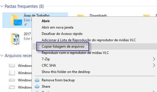 Windows - Exportar lista arquivos pasta